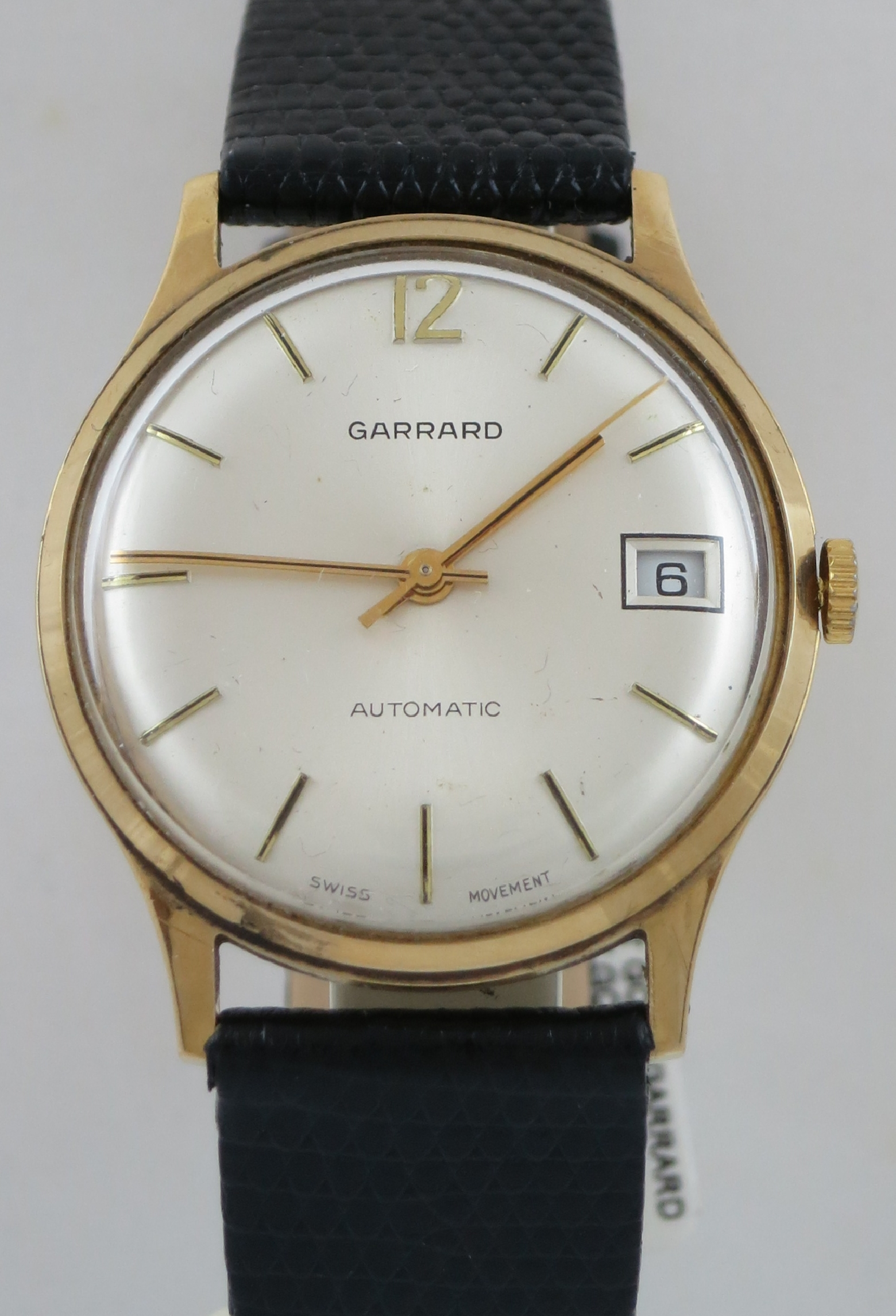 GARRARD AUTOMATIC WATCH 9CT GOLD CASE