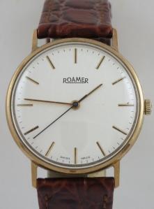 ROAMER MECHANICAL SWISS MADE WATCH IN 9CT GOLD CASE