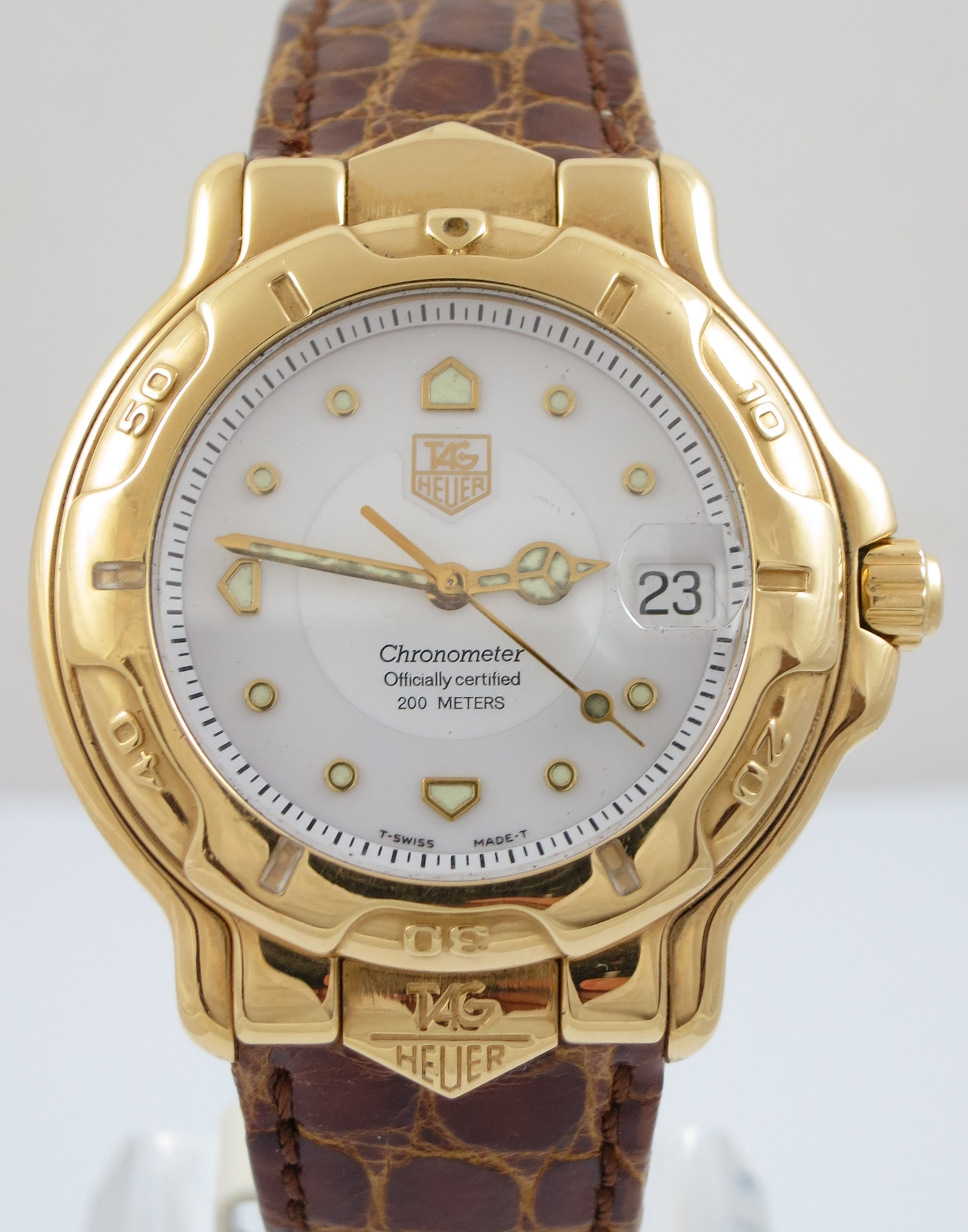 TAG HEUER 6000 18CT GOLD AUTOMATIC WATCH