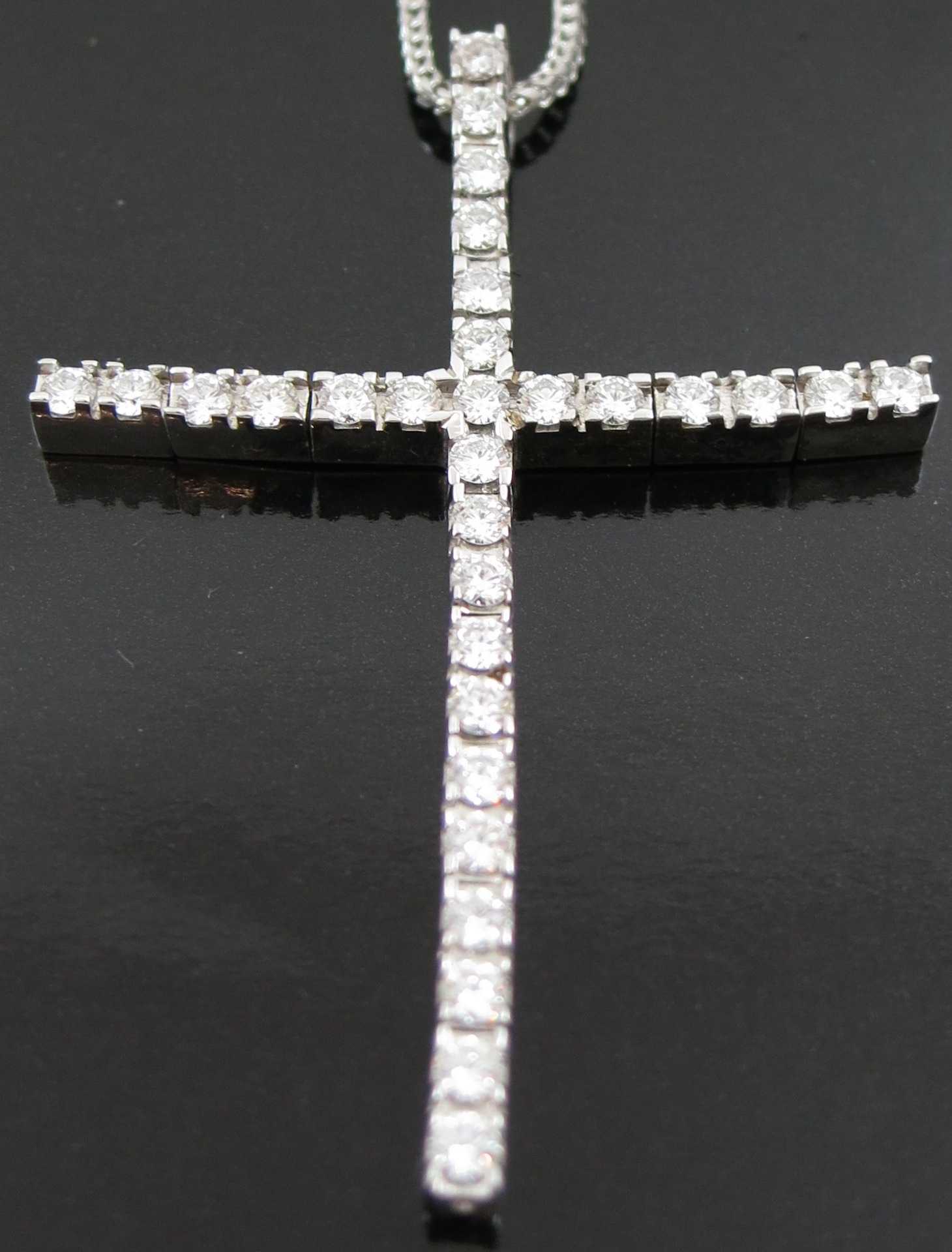 Diamond set Cross Pendant and Chain